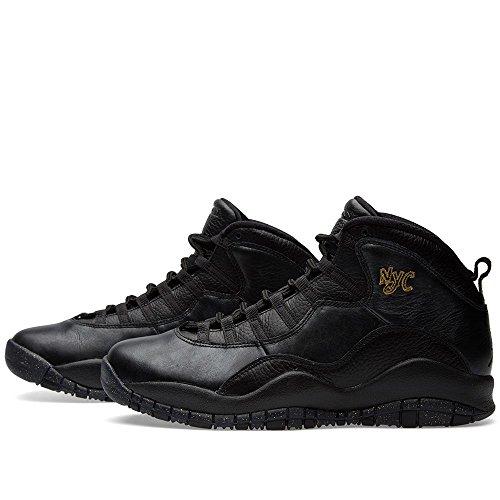Nike Herren Air Jordan Retro 10 Basketballschuhe, Grau black/black-drk grey-mtllc gld