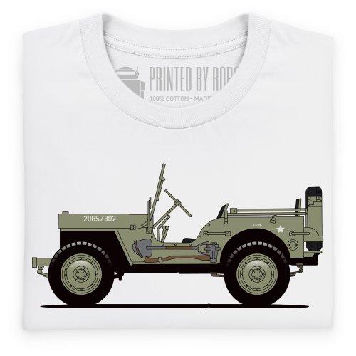 General Tee Willys MB T-Shirt, Herren Wei