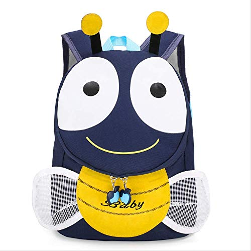 Kinder Tasche, Männer Und Frauen Kinder Schule Tasche Cartoon Kindergarten Baby Rucksack, Süße Persönlichkeit Kleine Bee Cartoon Schule Tasche blau -