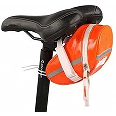 Impermeabile Bicicletta Coda pack-saddle, Orange - Arancione Saddle