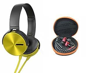 MIRZA Extra Extra Bass XB450 Headphones & JBL Headset for LG OPTIMUS L3 DUAL(Extra Extra Bass XB450 Headphones,With MIC,Extra Bass,Headset,Sports Headset,Wired Headset & JBL Headset)