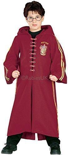 Mädchen Jungen Harry Potter Hermine Grainger Deluxe Kapuzen-bademantel Büchertag Halloween Kostüm Kleid Outfit - Quidditch, 8-10 Years