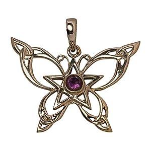Avalon Schmuck Amulett Keltischer Schmetterling Sterlingsilber mit Amethyst
