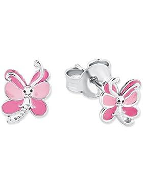 Prinzessin Lillifee Kinder-Ohrstecker Mädchen Schmetterling Tier 925 Sterling Silber rhodiniert Emaille