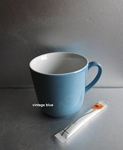 SONDERAKTION - Dibbern Solid Color - Becher mit Henkel 0,32 l - vintage blue - NEU - Solid Color