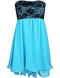 Designer Damen Abendkleid mit Spitze Cocktail Partykleid Sommerkleid Etui Kleid Neu XS S M in meheren Farben