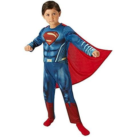 Superman DLX - Batman vs Superman amanecer de Justicia - Disfraz Infantil - Edad - 9-10 - 140cm