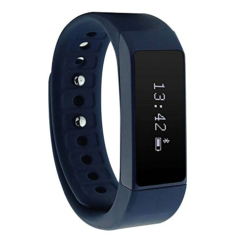 Witmood Smart Bracelet Bluetooth Sport Wristband Pedometer Watch Fitness Tracker Activity for iPhone Samsung IOS Android (Blue)