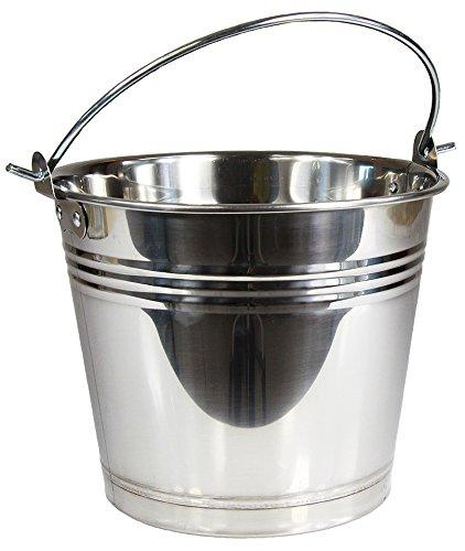 Wamat Edelstahleimer Eimer Edelstahl Kohleneimer Kücheneimer Lebensmittel 6 Größen (5 Liter)