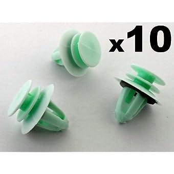 10 x Skoda Clips Agrafe Plastique Moulures et Bandeaux - 6Y0867260 - (Octavia / Fabia / Roomster) - Panneaux de Portes / Garnissages - LIVRAISON GRATUITE!