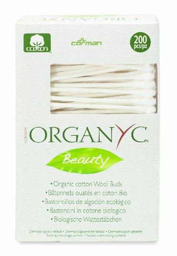 *Organyc Wattestäbchen aus 100% biologischer Baumwolle in biologisch abbaubarer Verpackung, 4er Pack (4 x 200 Stück)*