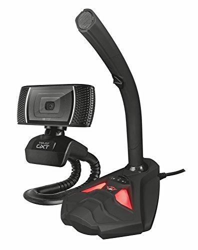 Trust Gaming GXT 786 Reyno - Pack para Streaming con Webcam y micrófono, Color Negro