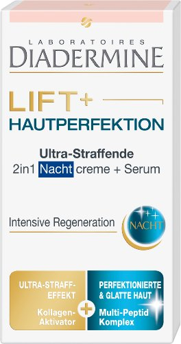 Diadermine Lift+ Hautperfektion 2 in 1 Nachtcreme + Serum, 1er Pack (1 x 50 ml)