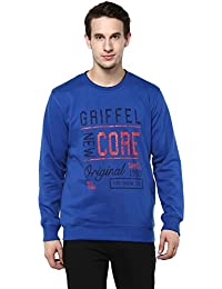 Griffel Latest New Designer Stylish Cotton Fleece Printed Sweatshirt/Pullover Full Sleeve Round Neck For Men/Boys