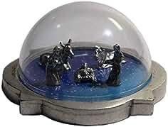 Eurofusioni Pesebre Cùpula de Navidad Completo de Plata chapeada - Miniatura Navidad de coleccionista - Sagrada