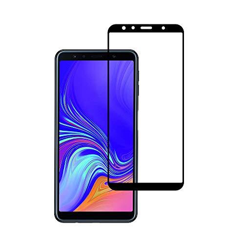 GEEMEE Samsung Galaxy A7 ( 2018 ) Pellicola Vetro Temperato,Durezza 9H Copertura Completa Protezione Schermo Pellicola Protettiva (Nero