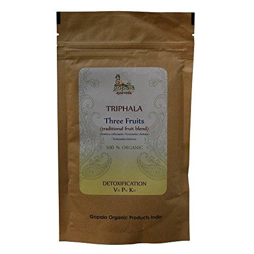 TRIPHALA (Emblica officinalis, Terminalia chebula, Terminalia belerica) BIO en poudre (100 g) - Mélange de Plantes Ayurvédiques Traditionnelles pour detoxiner