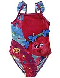 TROLLS bañador para niñas poppy + REGALO pompero de Trolls