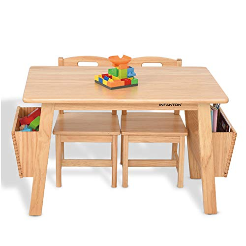 [1 Table 2 Chairs] Solid Wood Ch...