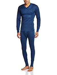 Alfa Oswal Men's Thermal Wear V Neck Set (Upper+Lower) + 1 Pair Socks Free