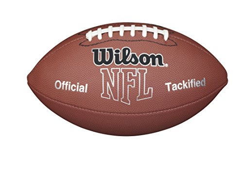 WILSON NFL MVP Fußball, Unisex, F1415 NFL MVP Football (Official Size), braun, Official (Bay Packers Carolina Green Panthers)