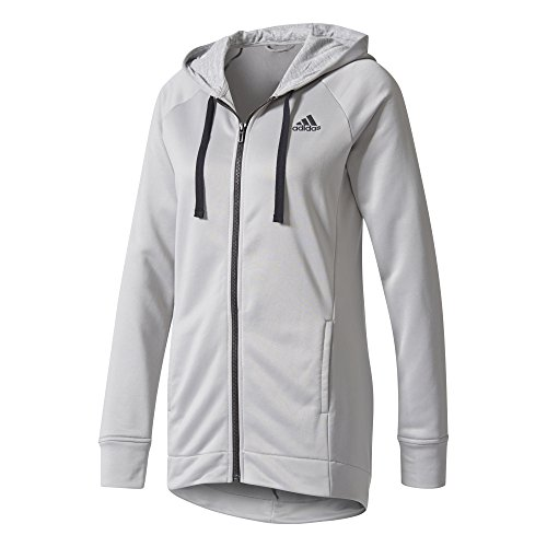 adidas Damen Pes Hoody und Tights, Medium Grey Heather/Black, L (Kapuzen-trainingsoutfit)
