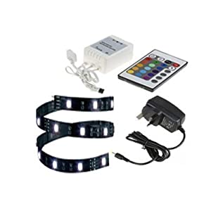 12v 16 Colour Changing Remote Controlled LED Strip Light Aquarium Fish Tank Car Lighting LED Strip (15 LED /25CM / 16…