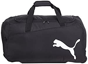 Puma Pro Training Wheel Bag - Black/Black/White, One Size