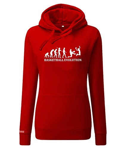 Jayess Basketball Evolution - Damen Hoodie in Rot by Gr. XS