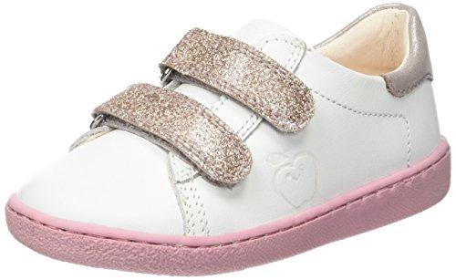 ShoopomDucky Scratch - Basse Bambina , bianco (Blanc (Blanc/Pink)), 24 EU