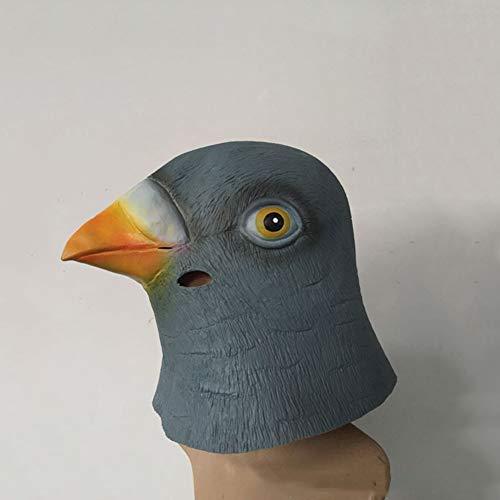 XIAO RUI Latex Tierkopf Maske Halloween Kostüm Party Cartoon Kopfbedeckung Spielen Prop Maske Taube, Einheitsgrösse