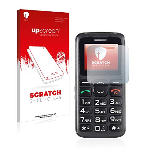 upscreen Scratch Shield Schutzfolie kompatibel mit Simvalley Mobile XL-915 V3 – Kristallklar, Kratzschutz, Anti-Fingerprint