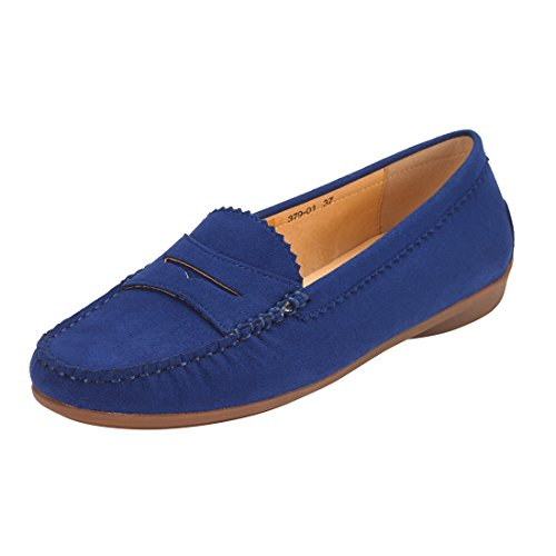 JENN ARDOR Mocassini in pelle scamosciata per donna: Vegan Leather Slip-On  Comfortable Mocassini