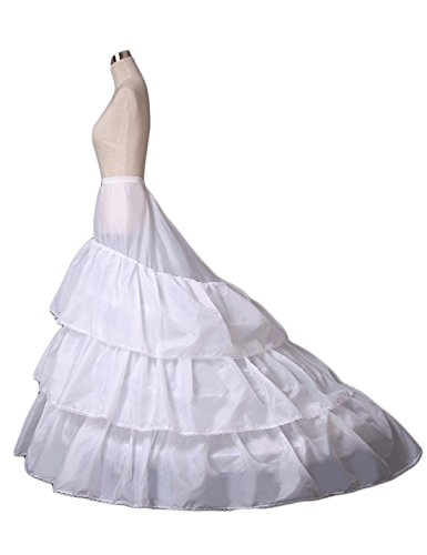 Women's A-line Train Wedding Petticoat 3-Hoop Underskirt for sale  Delivered anywhere in UK