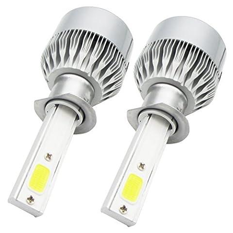 2* H1LED Phares Voiture Ampoules, NuoYo LED Phare Kit de Ampoule de Rechange Auto Véhicule Etanche IP65 110W 9200LM 50000 Heures Durée de Vie, Blanche.