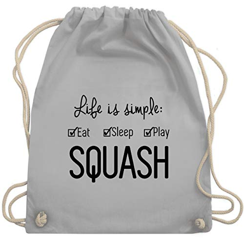 Tennis - Life is simple Squash - Unisize - Hellgrau - WM110 - Turnbeutel & Gym Bag