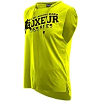 BOXEUR DES RUES Serie Fight Activewear, Canotta Uomo, Giallo Fluo, S