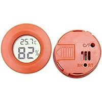 SalomeKK Higrómetro electrónico para Mascotas con termómetro e higrómetro Integrado Redondos