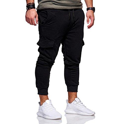 f6d4d80400686 Ba Zha Hei Mode Männer Persönlichkeit Freizeit Einfarbig Bewegung Hose Mode  Herren Sport Jogging Fitness Hose