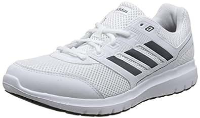 adidas Duramo Lite M, Chaussures de Running Homme, Multicolore (Blanc/Argent/Noir), 44 2/3 EU