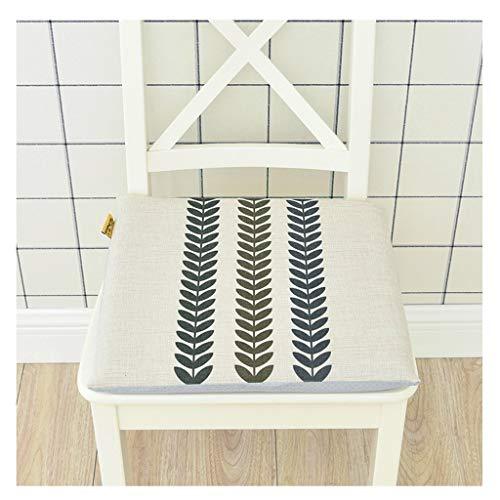 SN Memory Schaum Sitzkissen Zum Küche Essen Garten Stuhl Sitzkissen Mit Krawatten Abnehmbare Abdeckungen Mit Reißverschluss / 40x40x5cm (Color : C) -