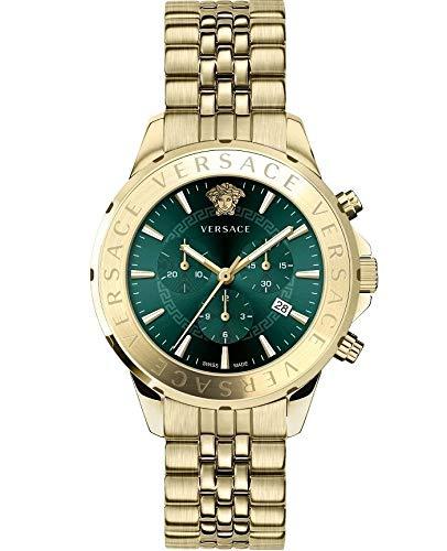 Versace Herren Armbanduhr Chrono SIGNAT.44 D/GREE B/IP2N V310 VEV6006 19
