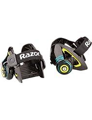 Razor - Patines chispeantes para talón Jetts para niños - color negro, talla mediana.