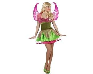 Atosa- Disfraz hada, Color verde y rosa, M-L (23028)