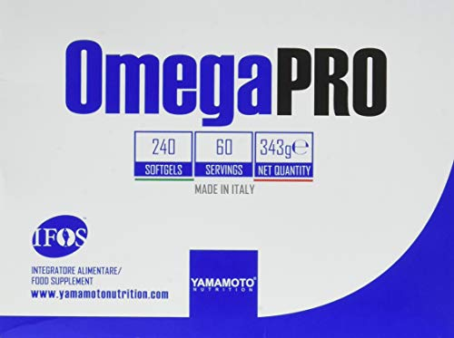 Omega 3, Yamamoto Nutrition OmegaPRO, integratore alimentare di omega 3, 5 stelle IFOS, 240 softgel