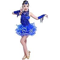 KINDOYO Bambini Costumi di Balletto Danza Latina Ragazze Paillettes  Concorrenza Vestiti da Ballo 4e2e0c4e91e
