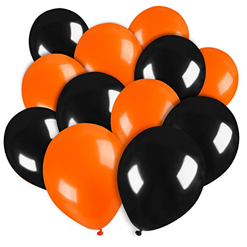 Halloween Kostüm 50 (Sumind 50 Stück 10 Zoll Kürbis Ballons Party Ballons Latex Ballons für Halloween Party Dekoration (Orange und)