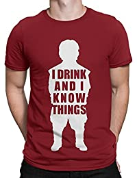Silly Punter Tyrion Lannister I Drink & I Know Things Men's Cotton Tshirt