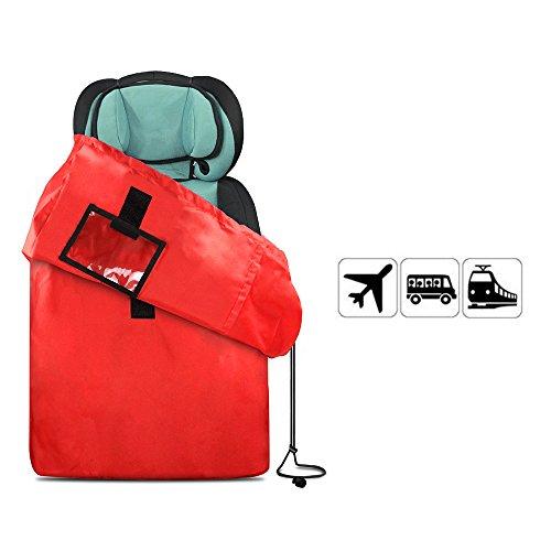 JTDEAL Bolsa de Viaje con Correa para Cochecitos y Sillas Plegables, Resistente al Agua, Bolso de Almacenamiento Portátil - Rojo