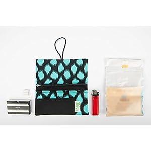 Tabaktasche mit 3 Fächer für Filter, Papier und Feuerzeug Animal Fluor